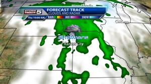 Showers with a few thunderstorms Wednesday night - Thursday
