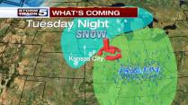 Storm brings cold winds and wrap around mix or snow to end the event Tuesday night to Wednesday
